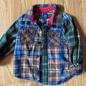Boys baby gap button up plaid shirt
